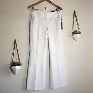 NWT Express editor white pinstripe pants